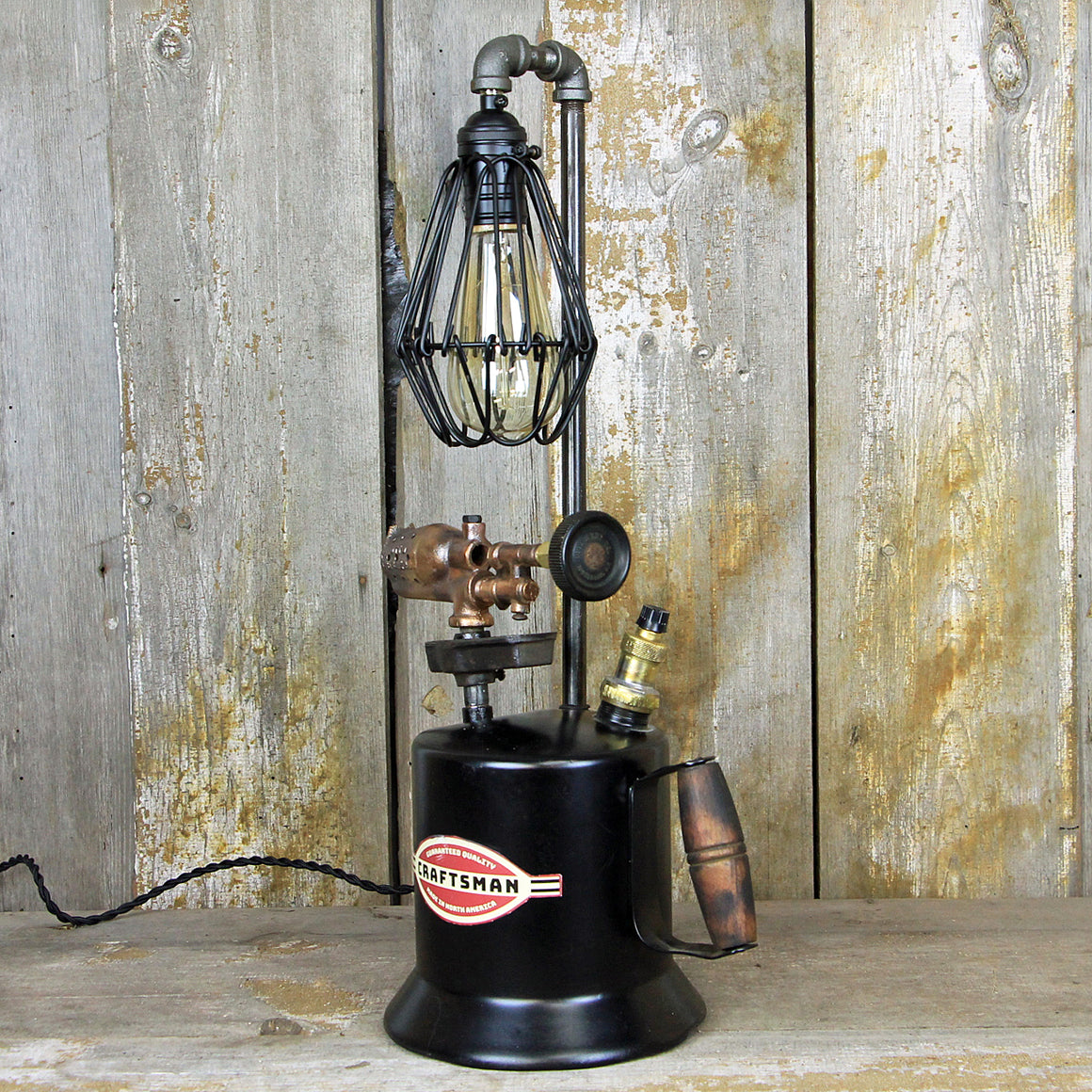 Steampunk Vintage Brass Torch Lamp - A Great piece of Steampunk lighting  #246 - The Lighting Works