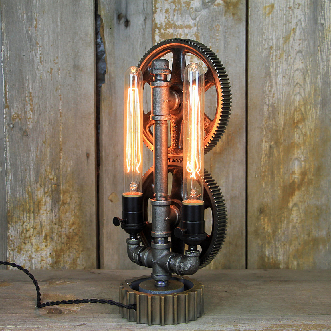 Steampunk Table Lamp with that Great Industrial Look - Steampunk Desk Lamp #260 - The Lighting Works