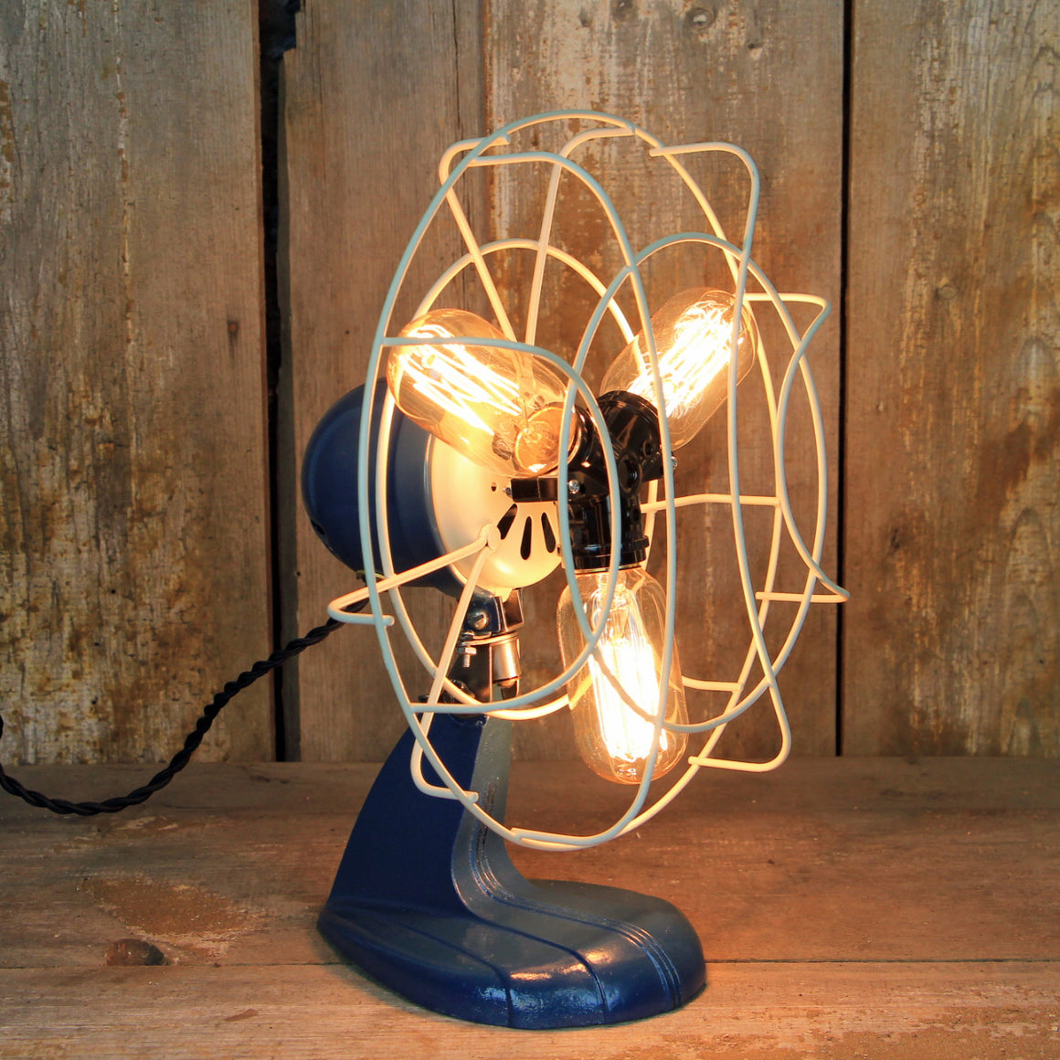 Steampunk Desk Lamp - Art Deco Styling - Steampunk Table Lamp - Edison Bulb Fan Lamp  #281 - The Lighting Works