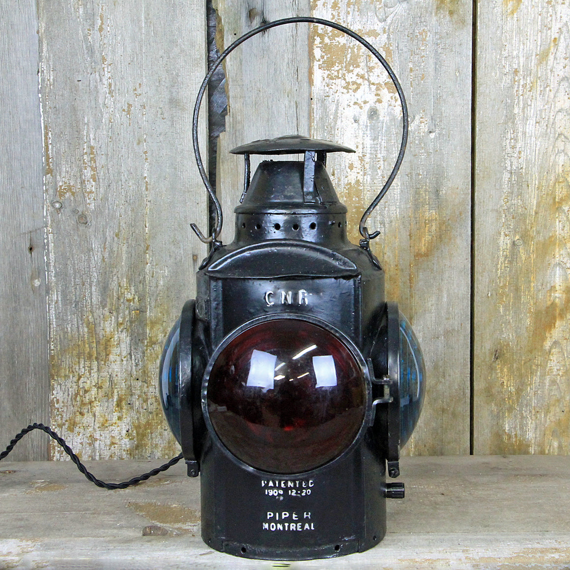 CNR Railroad Signal Lantern 1920's #291 - The Lighting Works