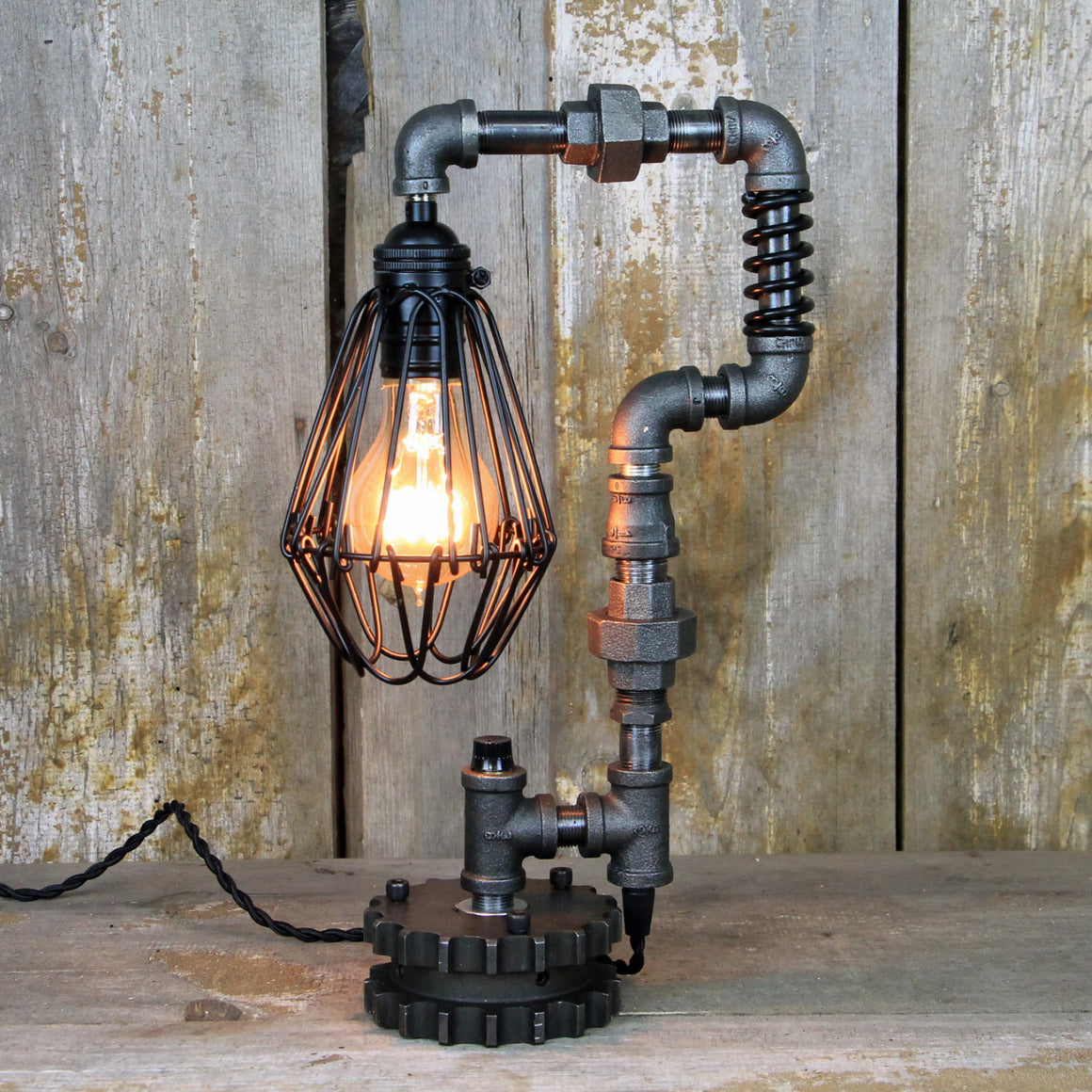 Industrial Table Lamp - Steampunk Desk Lamp #294 - The Lighting Works