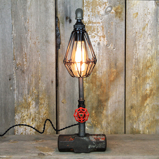 Vintage Sledgehammer based Steampunk Lamp. #298 - The Lighting Works