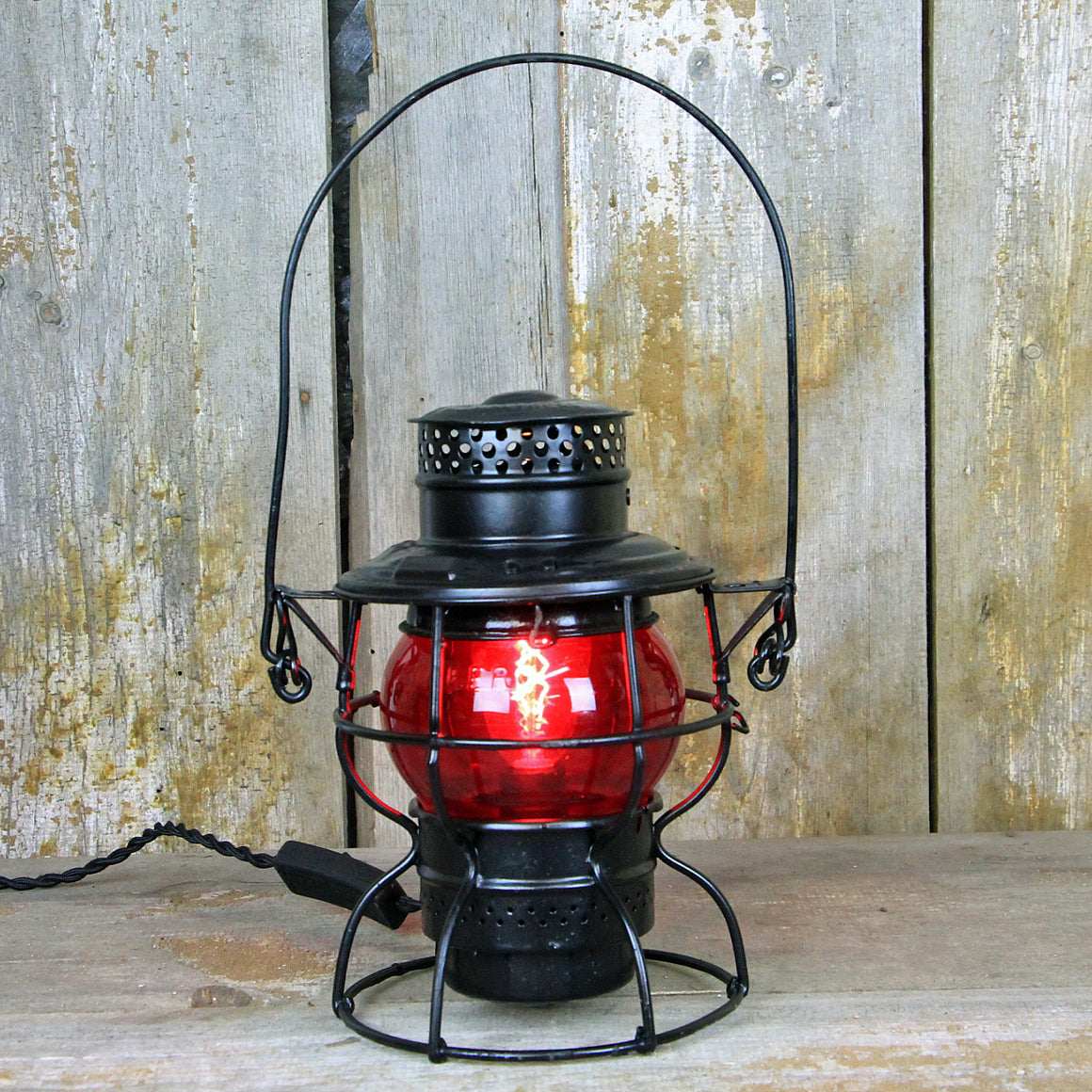 CNR Railroad Lantern Black 1920's #301 - The Lighting Works