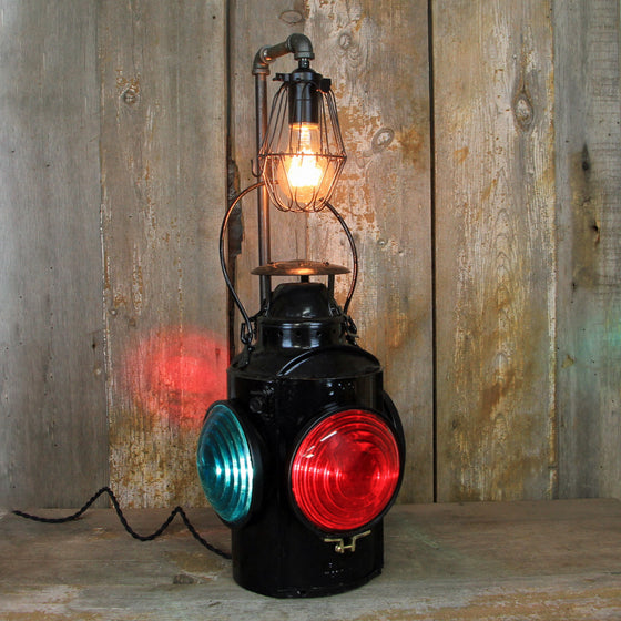 CNR Railroad Signal Lantern with an Edison Light #303 - The Lighting Works