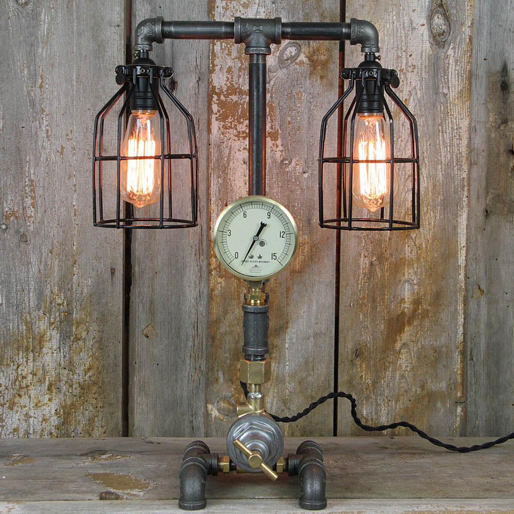 Industrial Table Lamp with Steampunk Styling #32