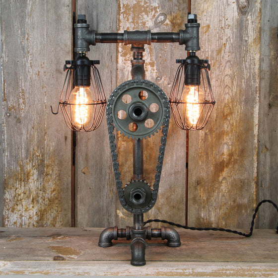 Industrial Desk Lamp - Steampunk Table Lamp #33 - The Lighting Works