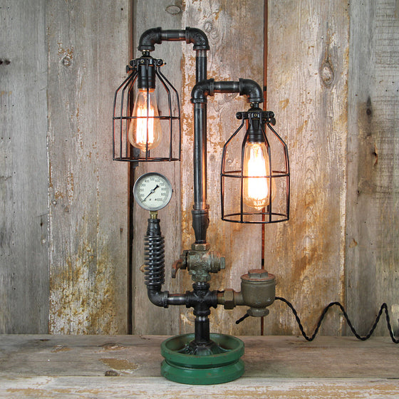 Industrial Table Lamp with Steampunk Styling #34 - The Lighting Works