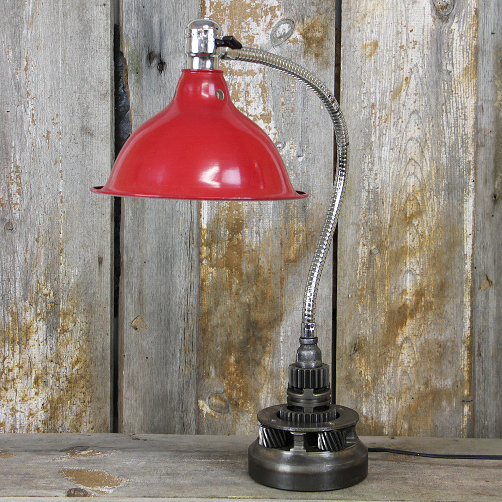 Industrial Table Lamp with a Flexible Arm #37