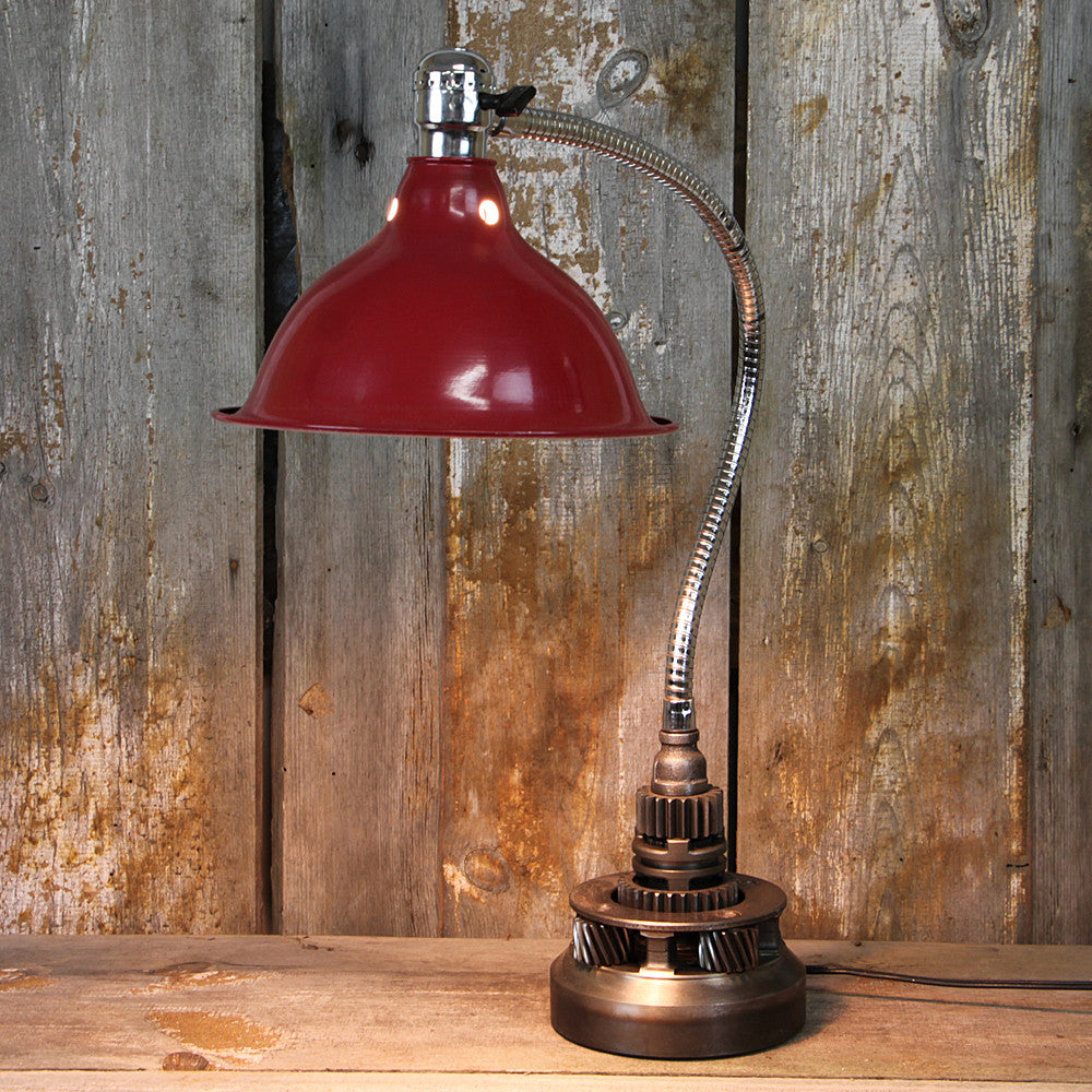 Industrial Table Lamp with a Flexible Arm #37 - The Lighting Works