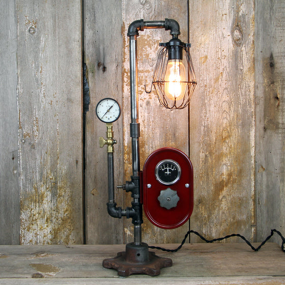 Steampunk Industrial Table Lamp #57 - The Lighting Works