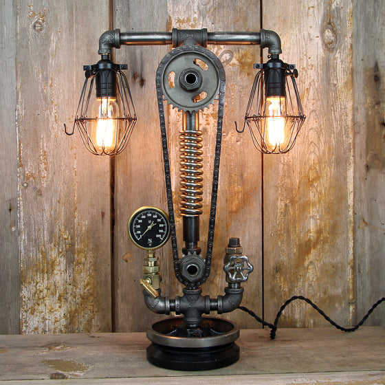 Industrial Desk Lamp - Steampunk Table Lamp #58 - The Lighting Works