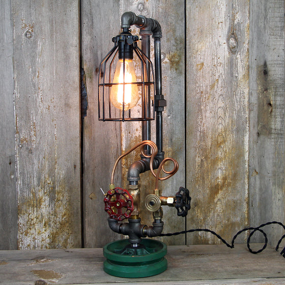 Industrial Table Lamp with Steampunk Styling #59 - The Lighting Works