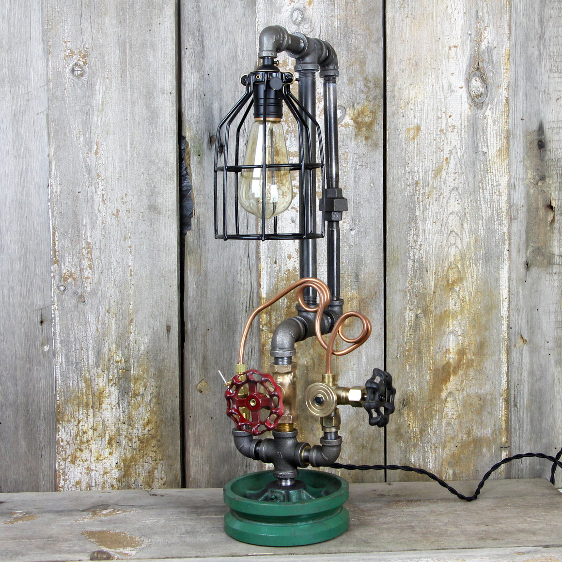 Industrial Steampunk Table Lamp #59 - The Lighting Works