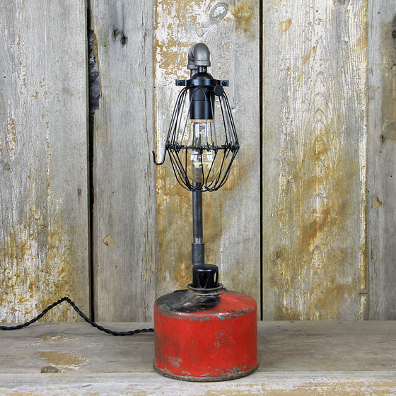 Industrial Table Lamp - Railway Smudge Pot Lamp #80
