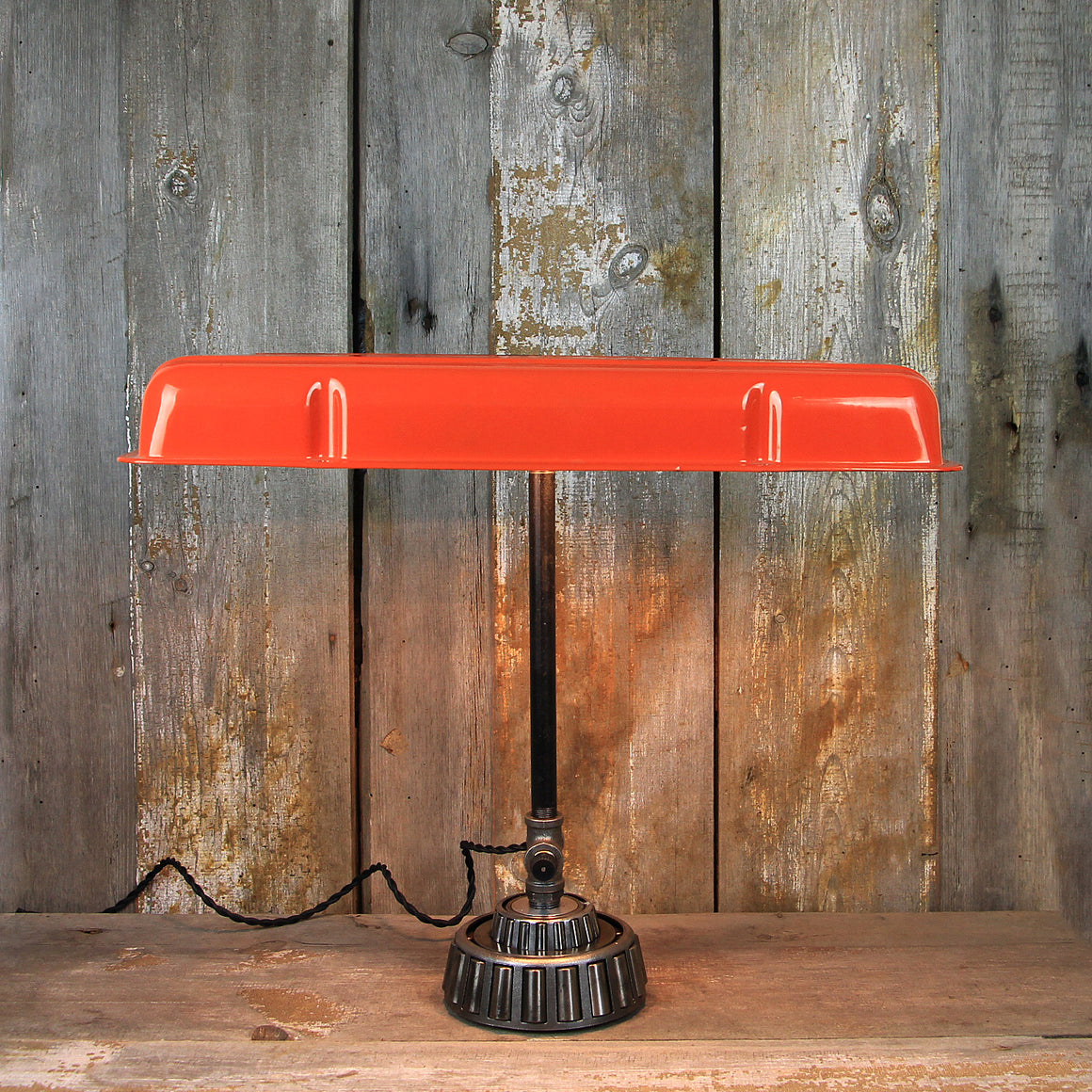 Industrial Desk Lamp with Chevrolet Valve Cover #87 - The Lighting Works