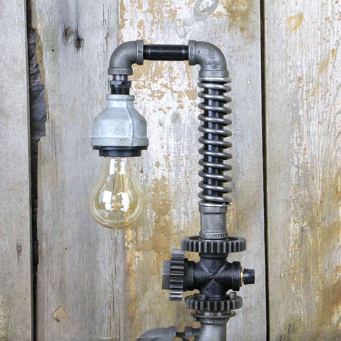 Industrial Table Lamp - Steampunk Desk Lamp #88 - The Lighting Works