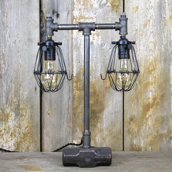 Industrial Table Lamp with a Vintage Sledgehammer base. #91 - The Lighting Works