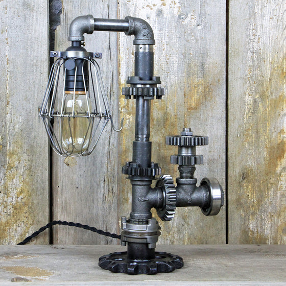 Industrial Table Lamp - Steampunk Desk Lamp #95 - The Lighting Works
