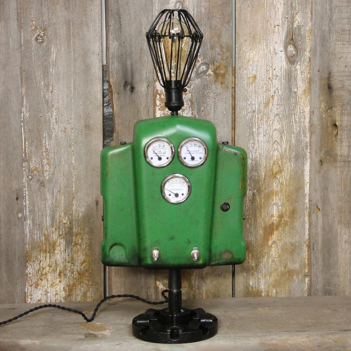 Vintage John Deere Lover's Industrial Table Lamp #38a - The Lighting Works