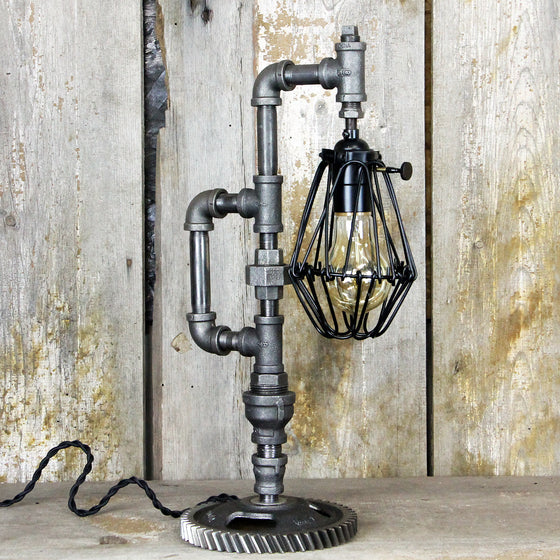 Industrial Table Lamp with a Steampunk Design #106