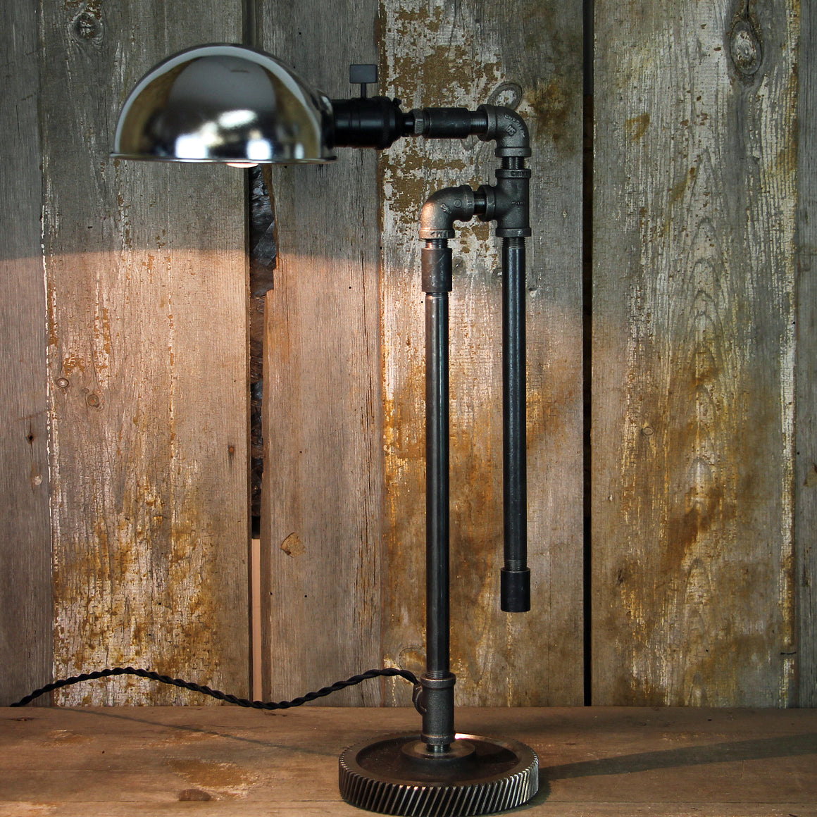 Industrial Contemporary Steampunk Table Desk Lamp #132 - The Lighting Works