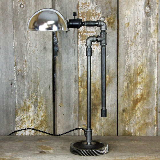 Industrial Contemporary Steampunk Table Desk Lamp #132