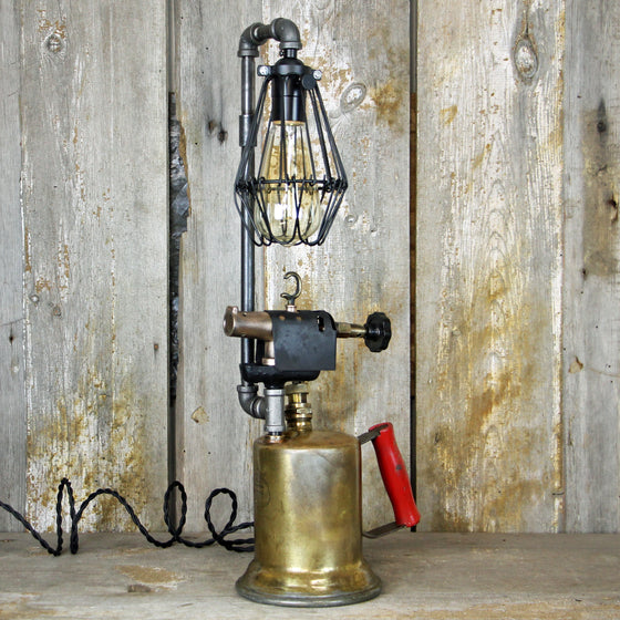 Steampunk Brass Torch Table Lamp - A Great piece of Steampunk lighting #1977