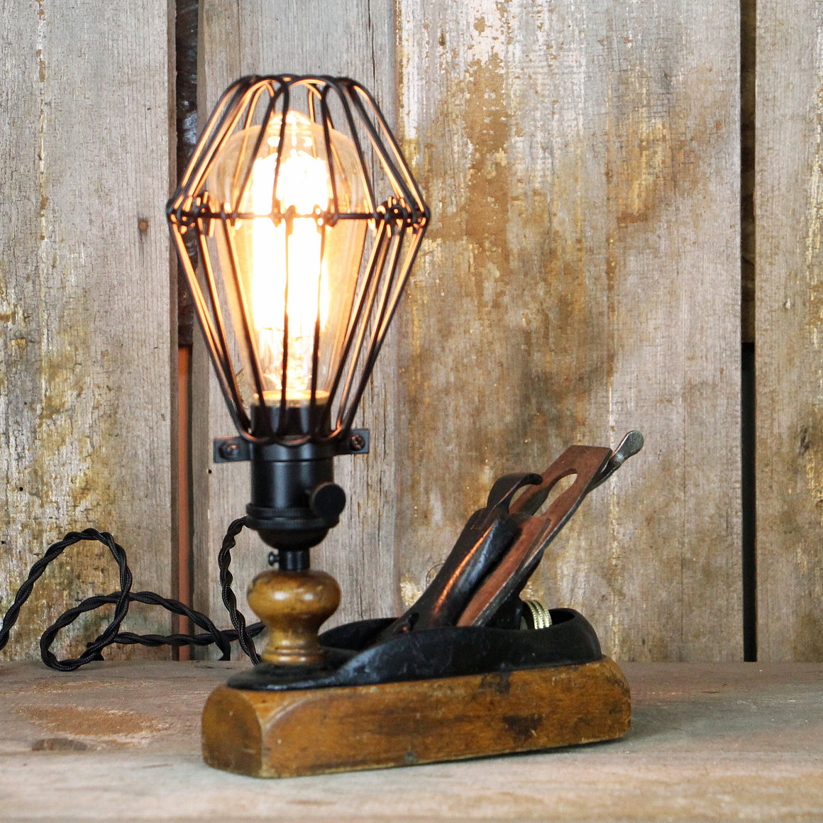 Unique Table Lamp - a Perfect Men's Gift - Wooden Plane Desk Lamp #330 - The Lighting Works