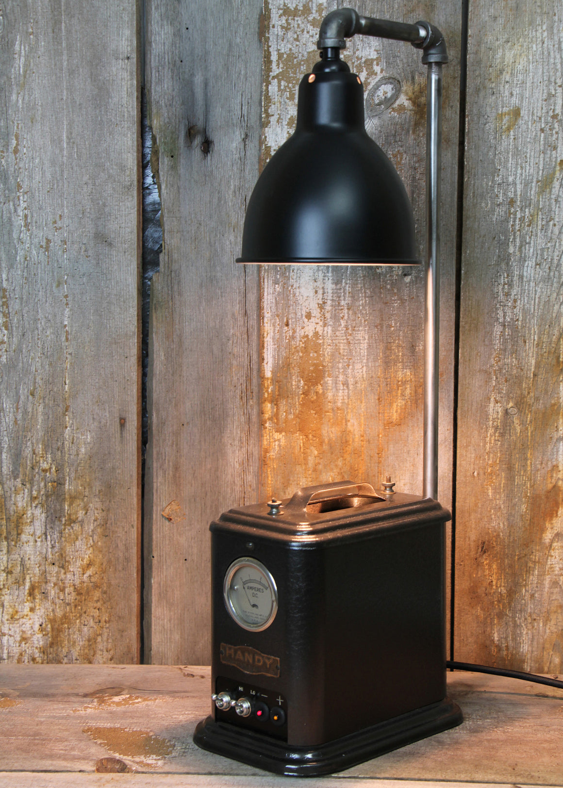 Steampunk Industrial Lamp with a Handy Base - The Lighting Works