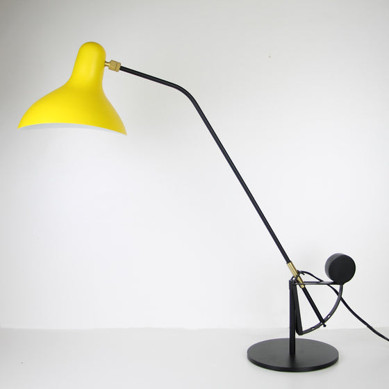 Mantis Table Lamp with Yellow Shade - The Lighting Works