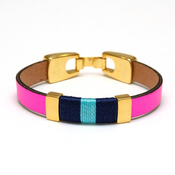 Bristol - Neon Pink/Navy/Turquoise/Gold