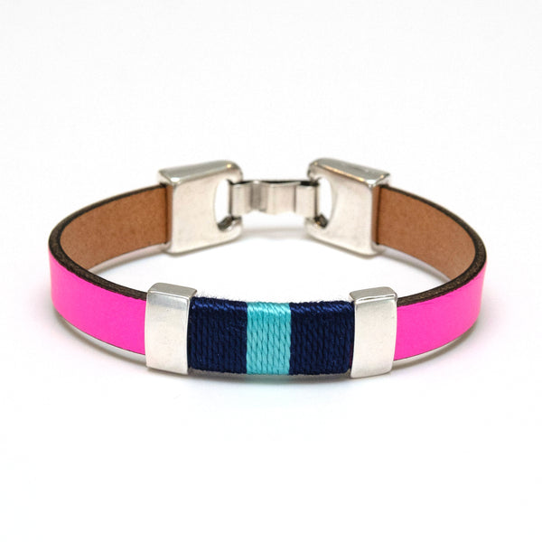 Bristol - Neon Pink/Navy/Turquoise/Silver