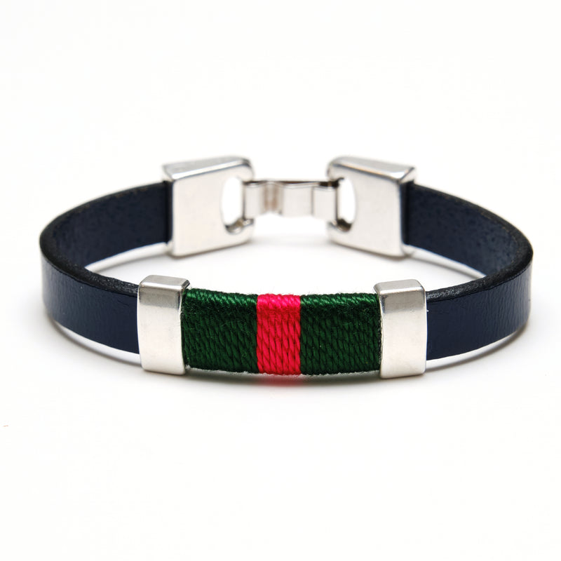 Bristol - Navy/Green/Red/Silver