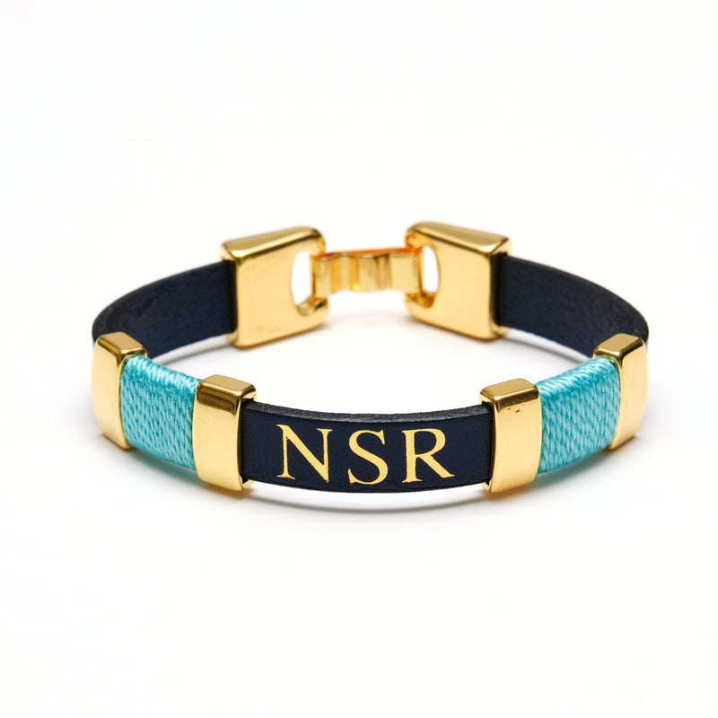 Essex - Navy/Turquoise/Gold
