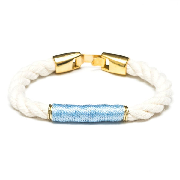 Beacon - Ivory/Light Blue/Gold
