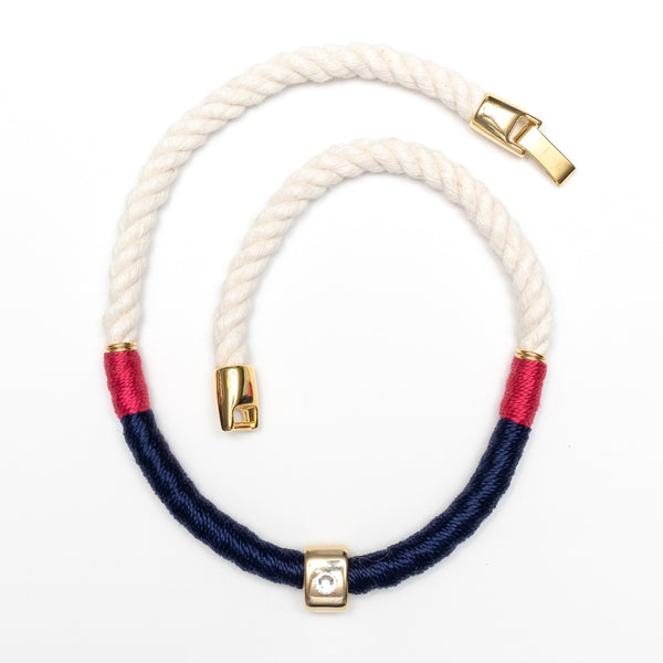 Belmont - Ivory/Navy/Pink/Gold