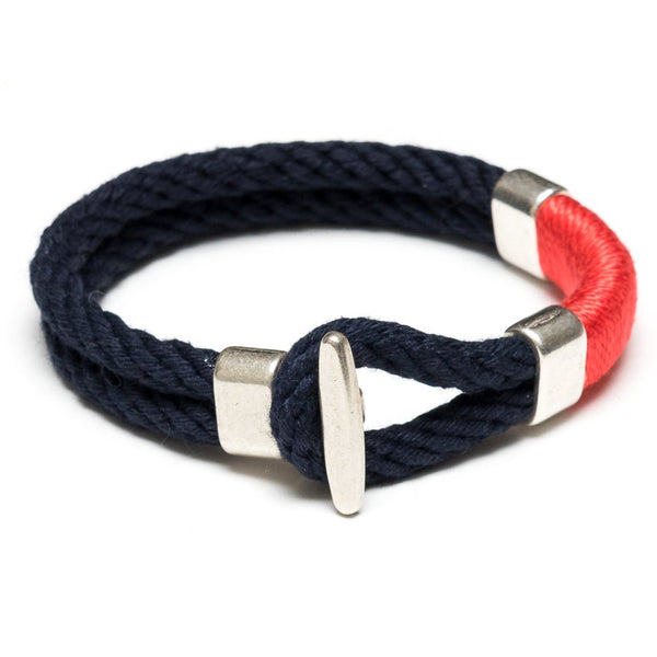 Cambridge - Navy/Coral/Silver