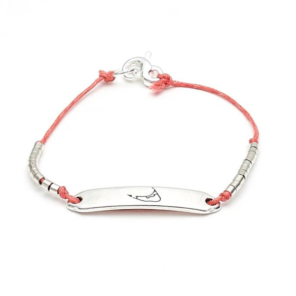 Chappie - Nantucket - Coral/Silver