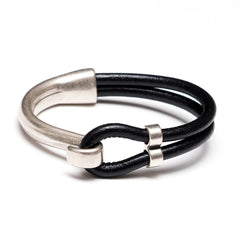 Hampstead - Black Leather/Silver