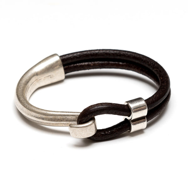 Hampstead - Brown Leather/Silver