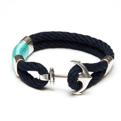 Waverly - Navy/Turquoise/Silver