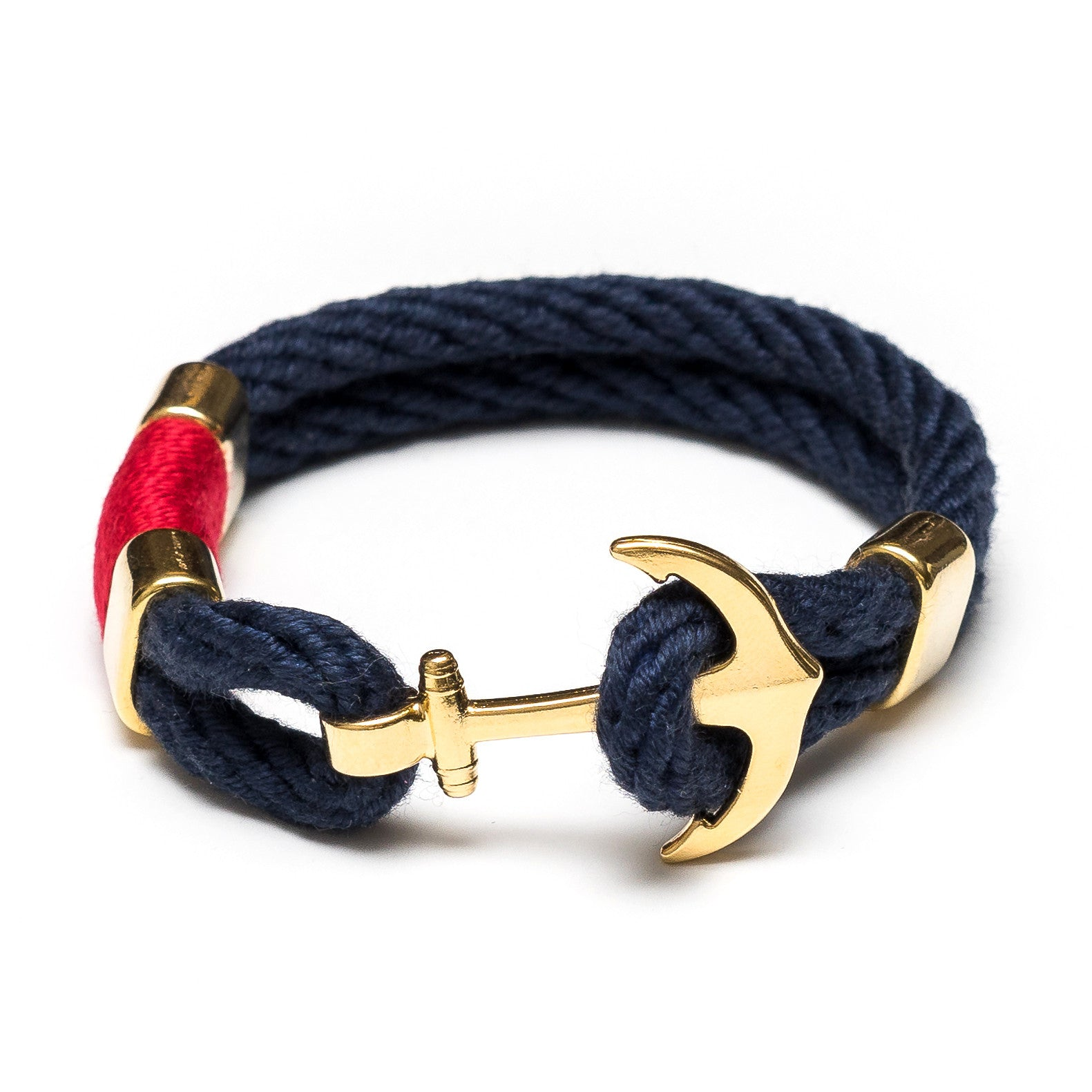 img braid heart navy stainless bracelet friendship steel gold