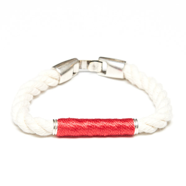 Beacon - Ivory/Coral/Silver