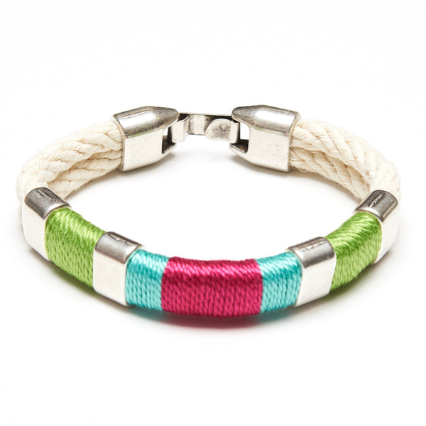 Newbury - Ivory/Lime/Turquoise/Pink/Silver