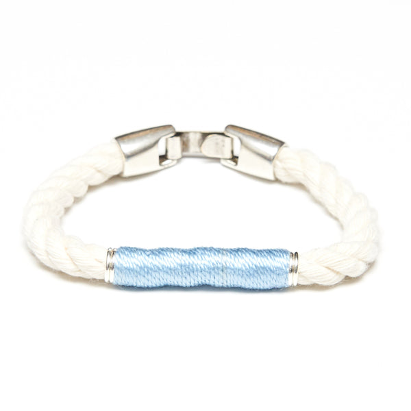 Beacon - Ivory/Light Blue/Silver