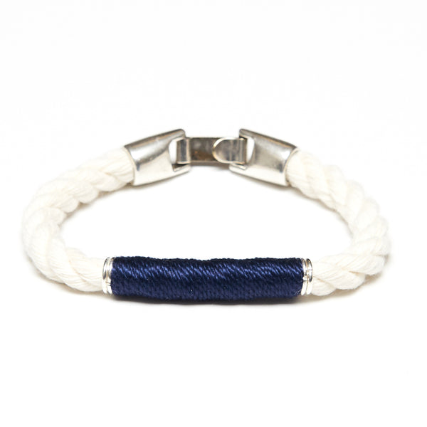 Beacon - Ivory/Navy/Silver