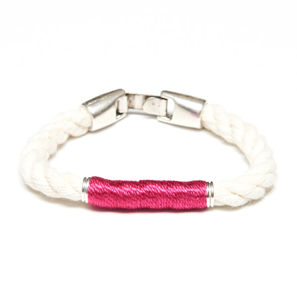 Beacon - Ivory/Pink/Silver