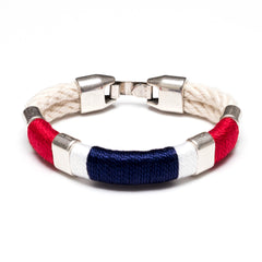 Newbury - Ivory/Red/White/Navy/Silver