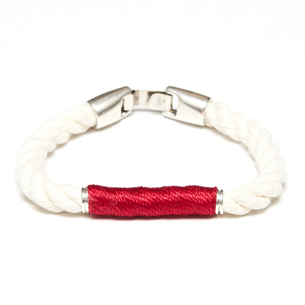 Beacon - Ivory/Red/Silver