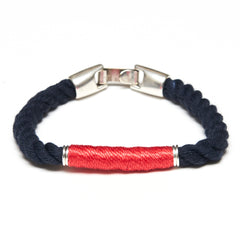 Beacon - Navy/Coral/Silver
